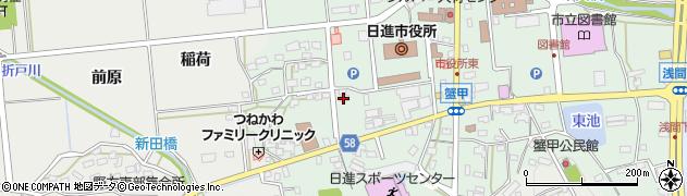 愛知県日進市蟹甲町(池下)周辺の地図