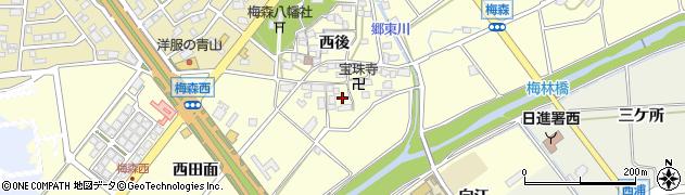 愛知県日進市梅森町(西田面)周辺の地図