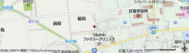 愛知県日進市野方町(稲荷)周辺の地図