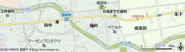 愛知県日進市藤枝町(前田)周辺の地図