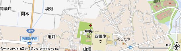 愛知県豊田市四郷町(山畑)周辺の地図