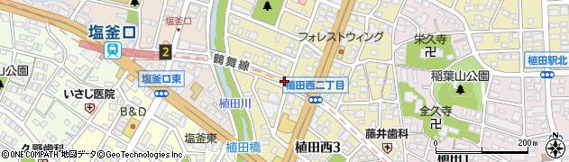 せぶん周辺の地図