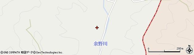 京都府京都市右京区京北細野町(九十尻)周辺の地図