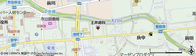 愛知県日進市蟹甲町(浅間下)周辺の地図