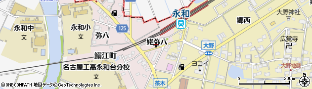 愛知県愛西市大井町(姥弥八)周辺の地図