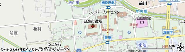 愛知県日進市周辺の地図