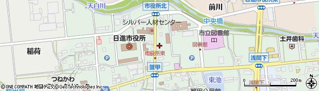 愛知県日進市蟹甲町(中島)周辺の地図