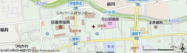 愛知県日進市蟹甲町周辺の地図