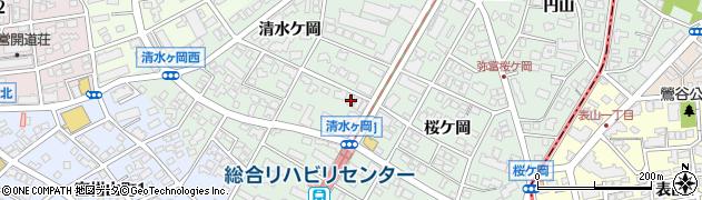 愛知県名古屋市瑞穂区彌富町(清水ケ岡)周辺の地図