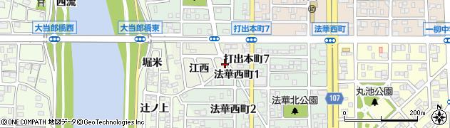 愛知県名古屋市中川区打出町(江西)周辺の地図