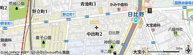 愛知県名古屋市熱田区中出町周辺の地図