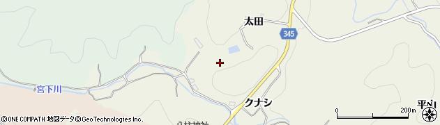 愛知県豊田市成合町(太田)周辺の地図