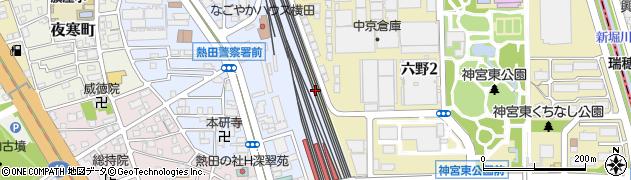 愛知県名古屋市熱田区六野町周辺の地図