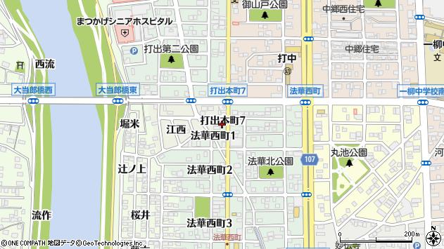 〒454-0923 愛知県名古屋市中川区打出本町の地図