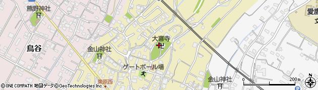 大喜寺周辺の地図