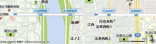 愛知県名古屋市中川区中須町(堀米)周辺の地図