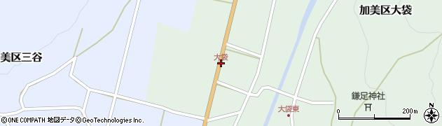 大袋周辺の地図