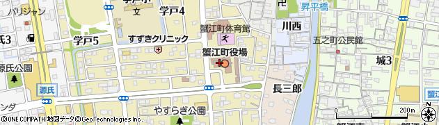 愛知県海部郡蟹江町周辺の地図