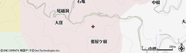 愛知県豊田市大蔵連町(要屋ケ根)周辺の地図