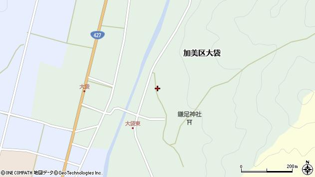 〒679-1332 兵庫県多可郡多可町加美区大袋の地図
