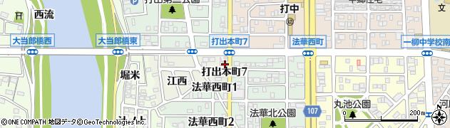 愛知県名古屋市中川区打出本町周辺の地図