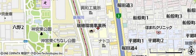 愛知県名古屋市瑞穂区二野町周辺の地図