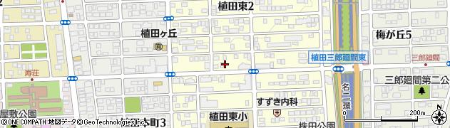 植田ラティス周辺の地図