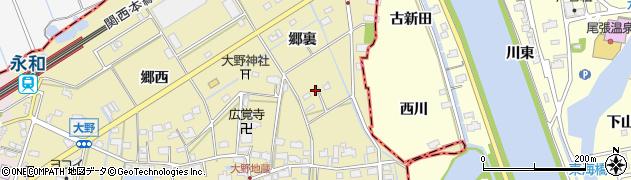 愛知県愛西市大野町(郷裏)周辺の地図