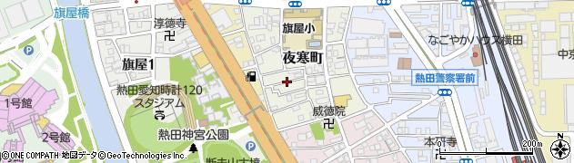 愛知県名古屋市熱田区夜寒町周辺の地図