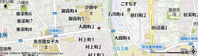 愛知県名古屋市瑞穂区大殿町周辺の地図