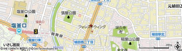愛知県名古屋市天白区植田西周辺の地図