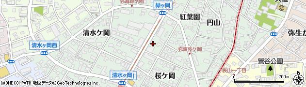 愛知県名古屋市瑞穂区彌富町(紅葉園)周辺の地図