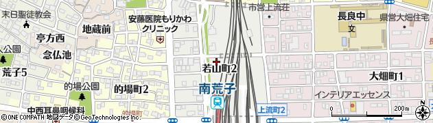 愛知県名古屋市中川区若山町周辺の地図