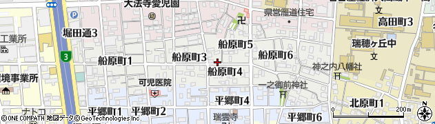 愛知県名古屋市瑞穂区船原町周辺の地図
