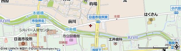 愛知県日進市本郷町(前川)周辺の地図