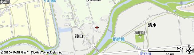 愛知県日進市野方町(後口)周辺の地図