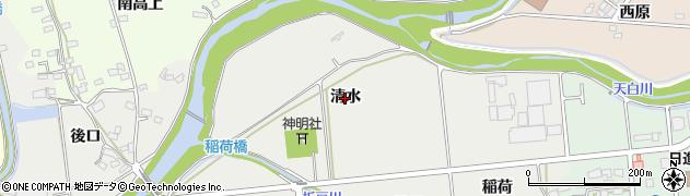 愛知県日進市野方町(清水)周辺の地図