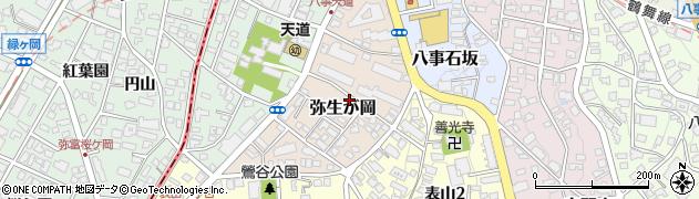 愛知県名古屋市天白区弥生が岡周辺の地図
