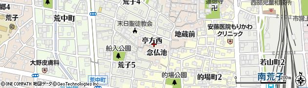 愛知県名古屋市中川区荒子町(亭方西)周辺の地図