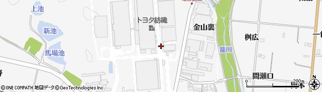 愛知県豊田市亀首町(金山)周辺の地図