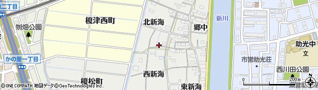 愛知県名古屋市中川区富田町大字榎津周辺の地図