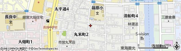 愛知県名古屋市中川区丸米町周辺の地図