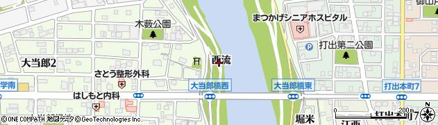 愛知県名古屋市中川区大蟷螂町(西流)周辺の地図