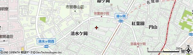 愛知県名古屋市瑞穂区彌富町周辺の地図