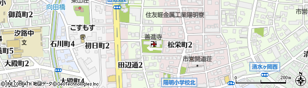 善進寺周辺の地図