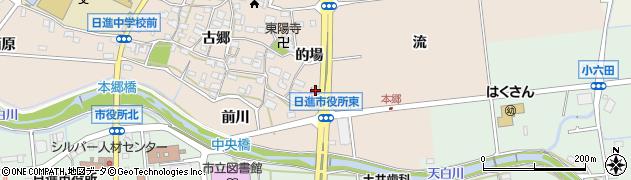 愛知県日進市本郷町(流)周辺の地図