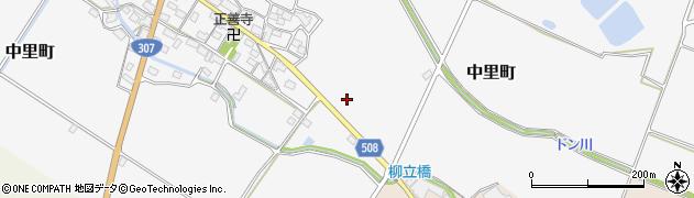 滋賀県東近江市中里町周辺の地図