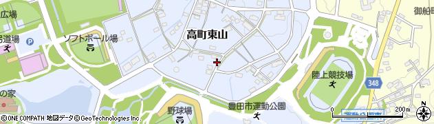 愛知県豊田市高町東山周辺の地図