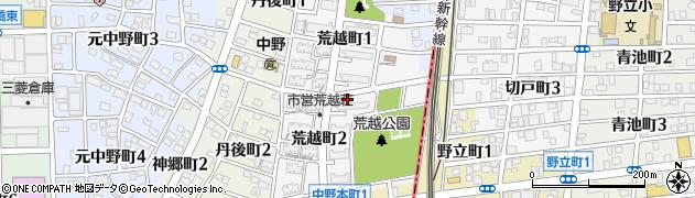 愛知県名古屋市中川区荒越町周辺の地図