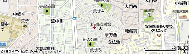 愛知県名古屋市中川区荒子周辺の地図